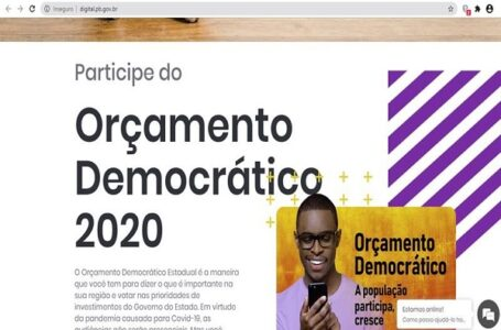 Audiência virtual do Orçamento Democrático será realizada para o Vale nesta quarta-feira