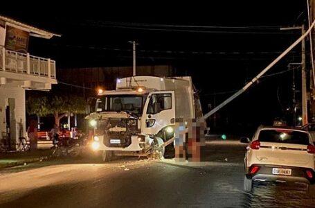 No Vale Do Piancó, caminhão derruba poste e deixa cidade sem energia