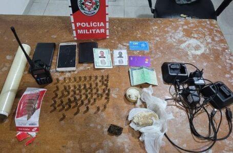 Polícia militar apreende drogas e munições em Itaporanga