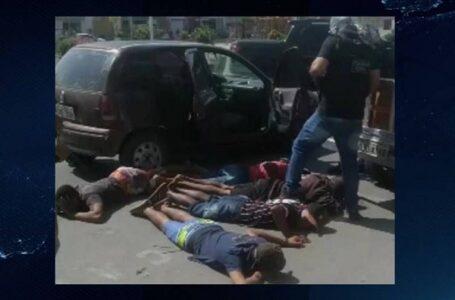 VÍDEO: Grupo suspeito de vários assaltos é preso, em cidade no Vale do Piancó