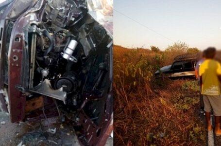 Colisão entre duas caminhonetes D-20 deixa um morto, no vale do Piancó