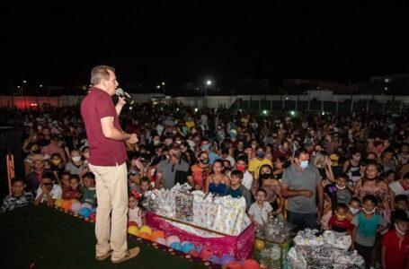 Prefeitura de São José de Piranhas realiza festa do Dia das Crianças com, lanches e distribuição de 2 mil presentes